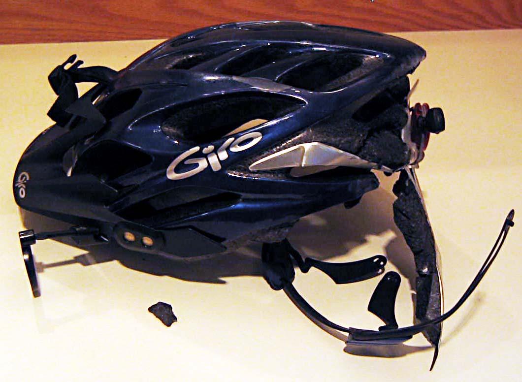 Image result for broken bike helmet